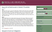 Social Law Library BlogLaw Office Lisa Seigel Belanger